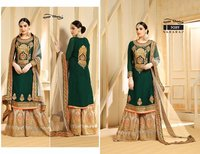 Stylish Straight Cut Plazzo Salwar Suits