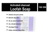 Activated Charcoal Luffah Soap