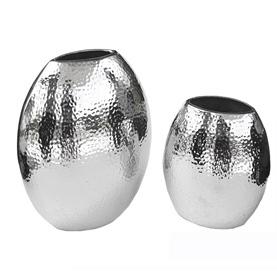 Hammered Steel vases