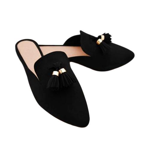Fancy Ladies Flat Mule Loafers