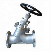 Y type globe valve