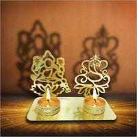 Pair Of Lakshmi Ganesh T Light Holder