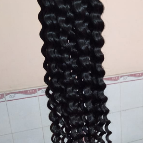 Curly human hairs