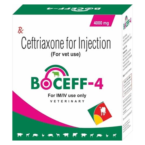 Ceftriaxone Injection 4.0 g (For Veterinary Use only)