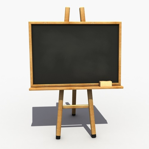 Wooden Frame Blackboard With Stand