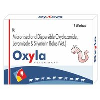 Micronised & Dispersible Oxyclozanide,Levamisole And Silymarin Bolus