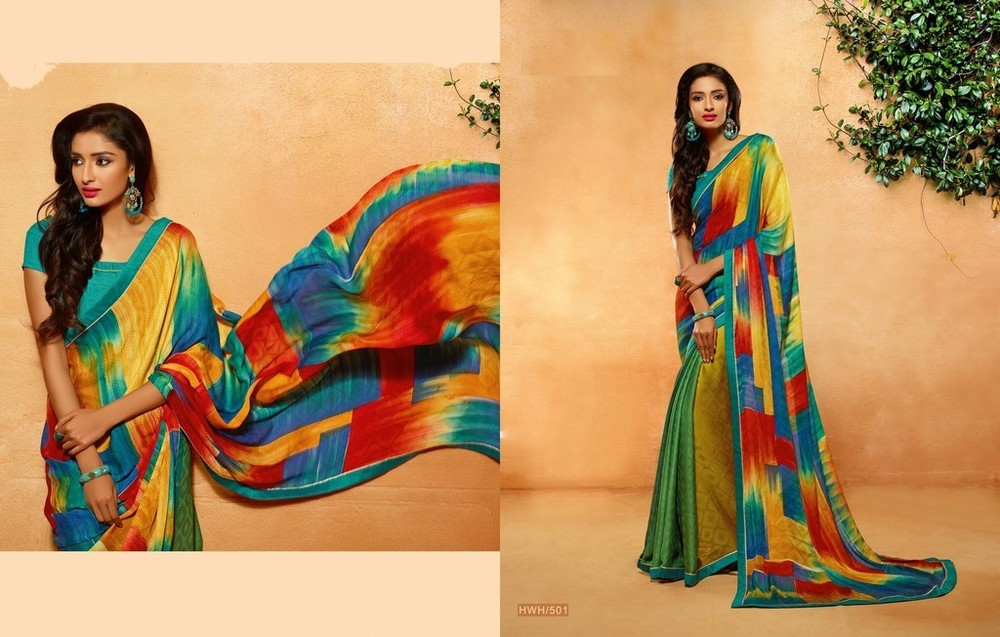 Fancy Printed Georgette Sarees
