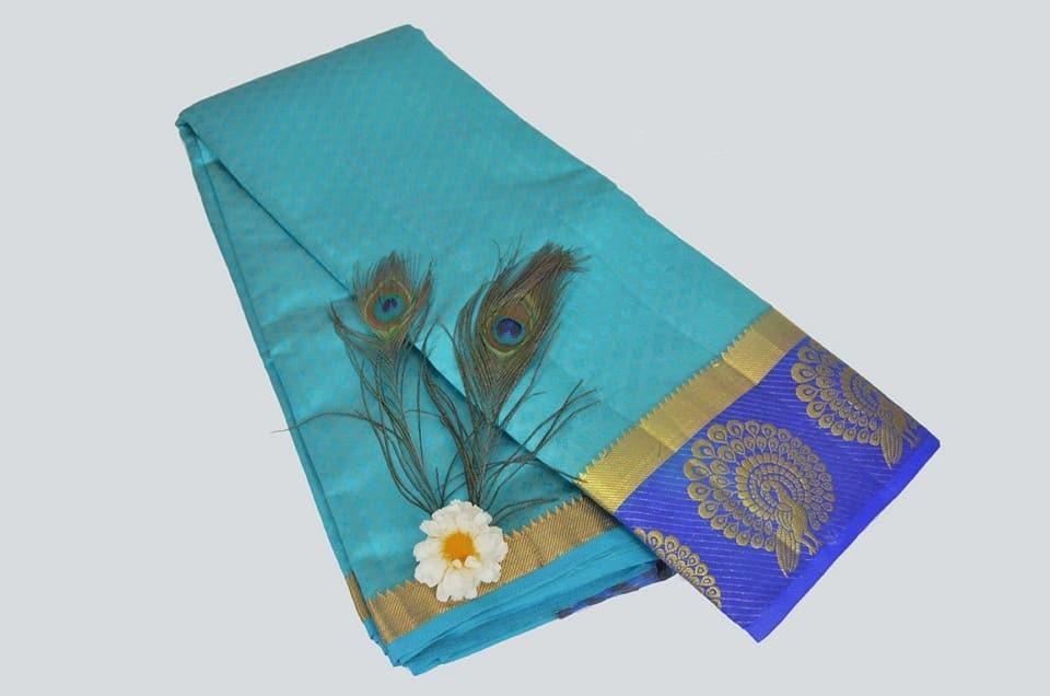 Fancy Printed Kanjivaram Silk Saree