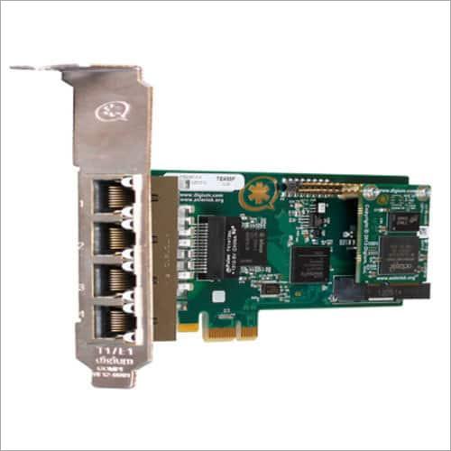 Digium 4 Port PRI Card With Hardware Echo Cancellation