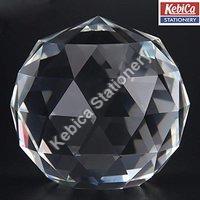 kebica Prism Cut Crystal Glass Ball