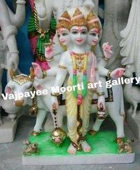 God Dattatreya Marble Statues