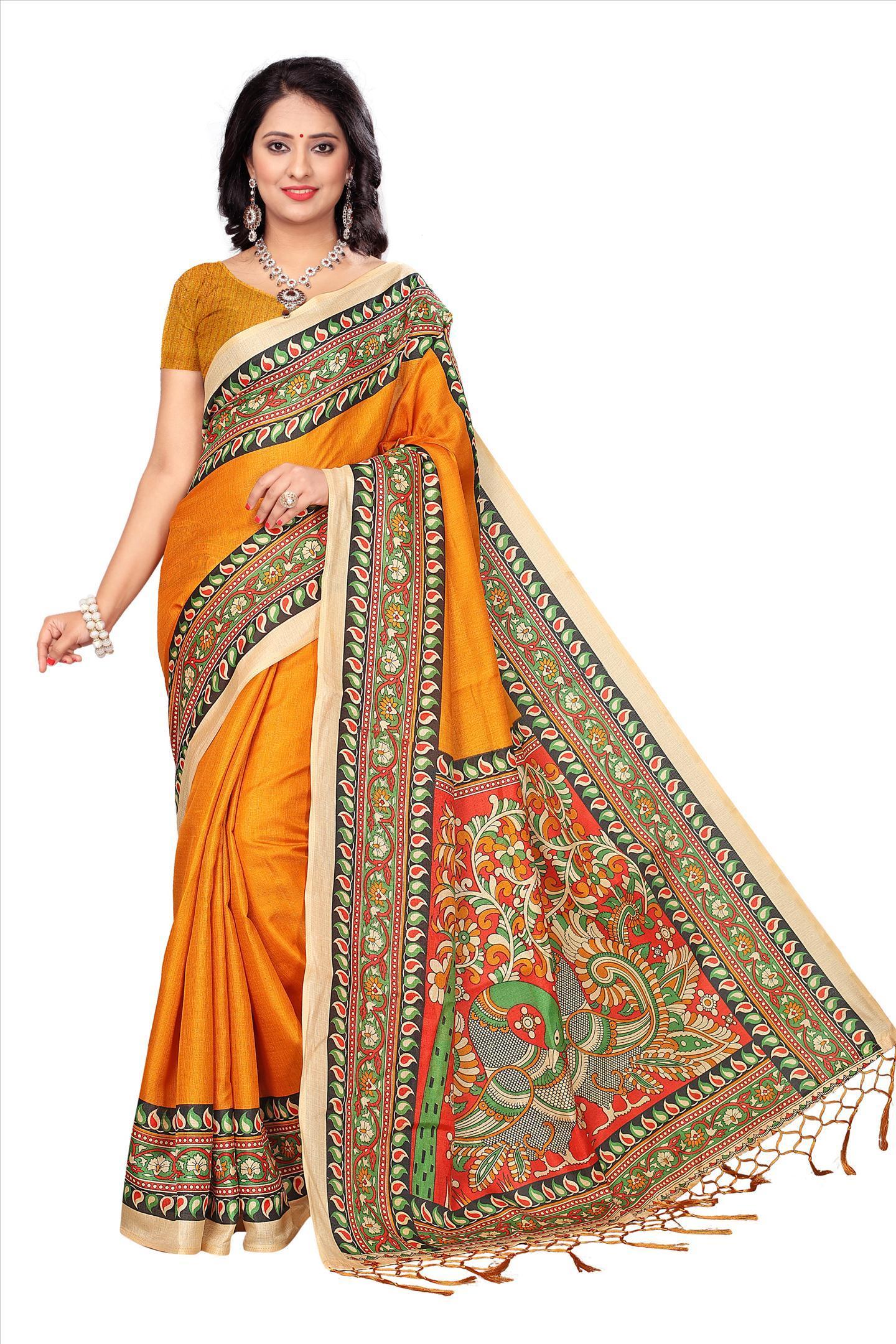Fancy Print Silk Saree