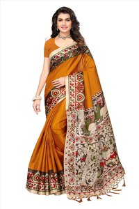 Fancy Print Silk Saree