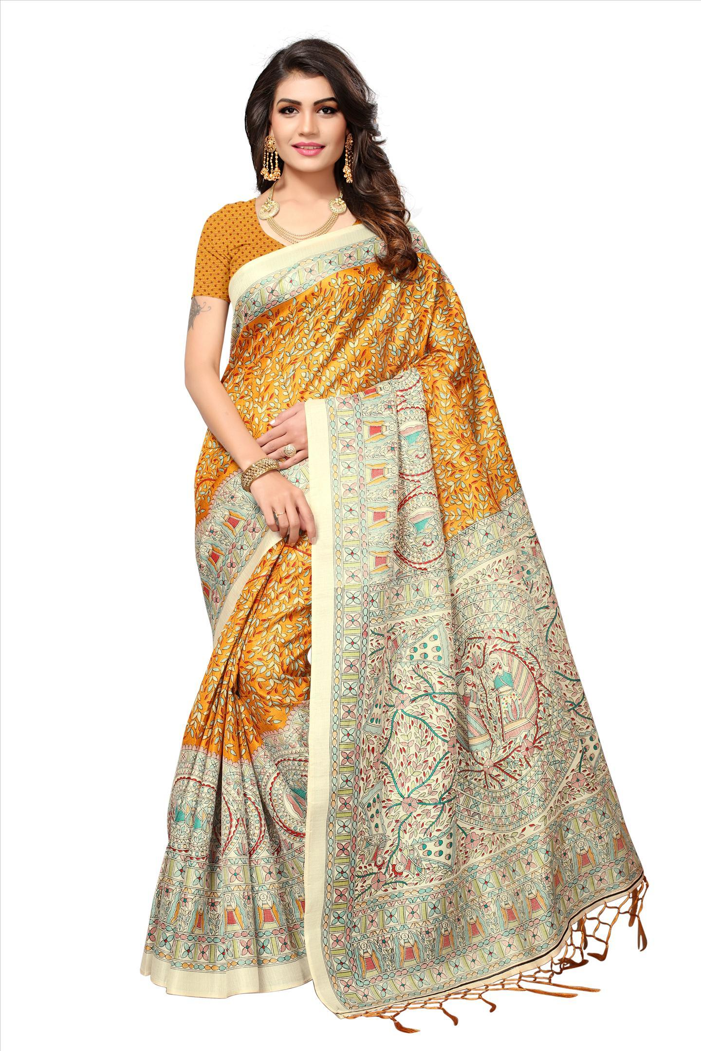 Fancy SIlk Saree with Butterfly Design