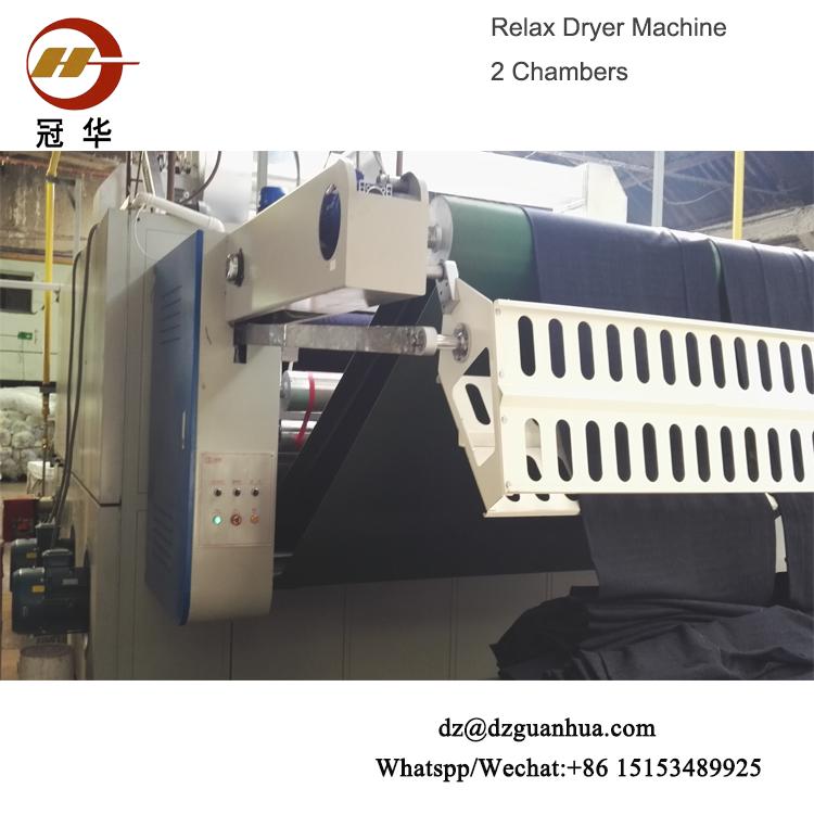 knit fabrics six chambers relax dryer of China knitting fabric finishing machine