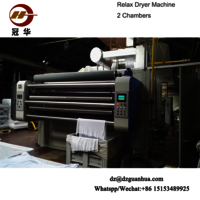 knit fabrics six chambers relax dryer of China knitting fabric finishing machine