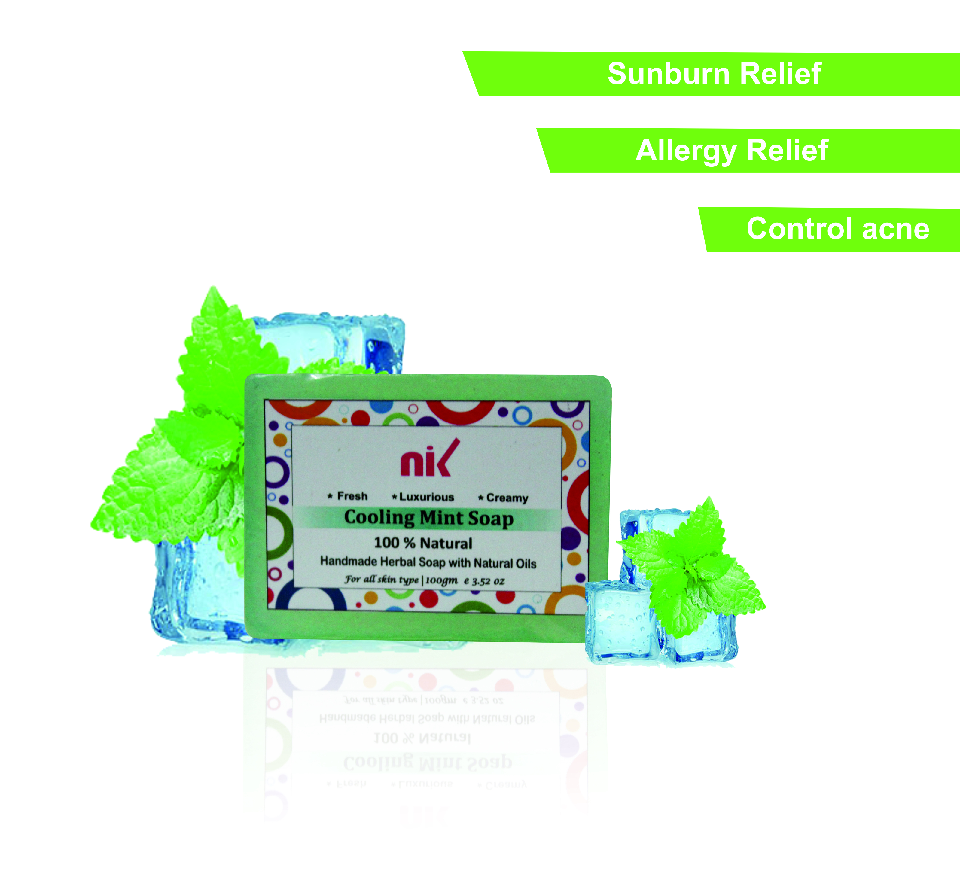 Cooling Mint hand Made Soap