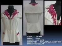 Small Peplum Jacket With Embellished Collar