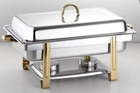 FULL SIZE CHAFING DISH GOLD LEG & HANDLE 9 Ltr