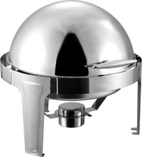ROUND ROLL TOP CHAFING DISH 6 Ltr