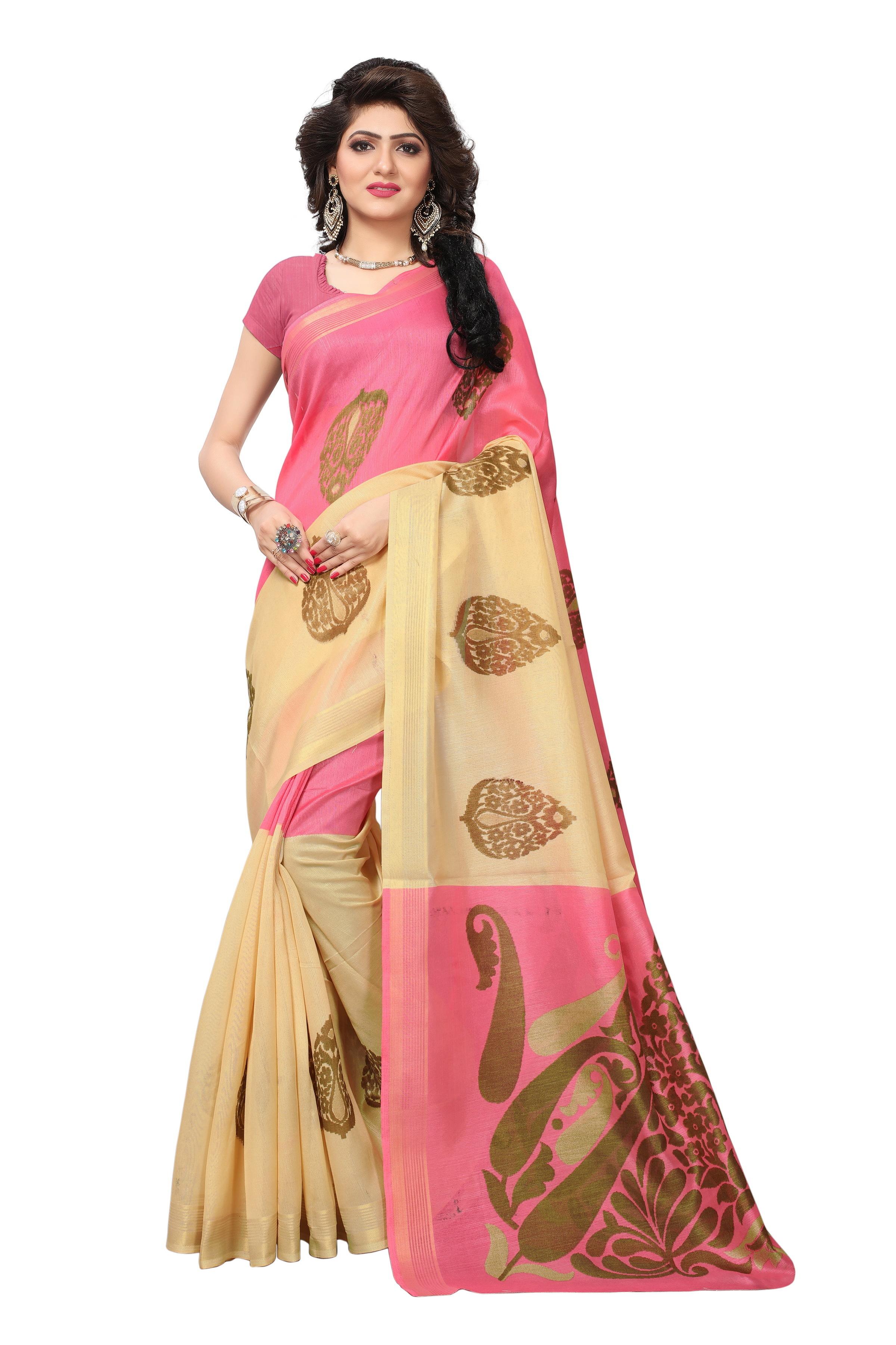 Vasundra Print Silk Saree