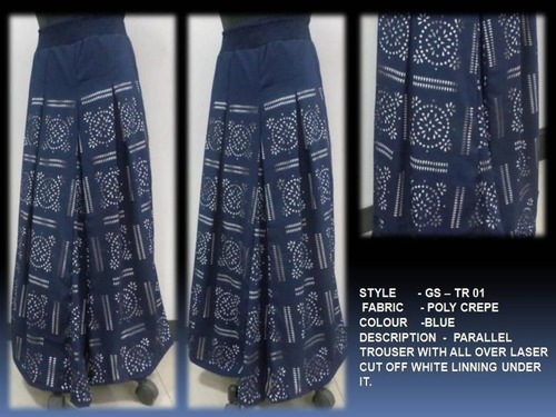 Parallel Trouser With All Over Laser Cut Linning
