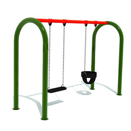 Bucket Toddler Double Swing