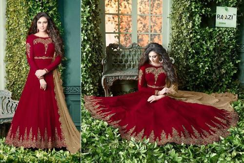 Red Ladies Party Wear Designer Suit At Price 500 Inr Piece In Jaipur Id C4910950