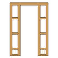 Wooden Door Frame With Window Frame