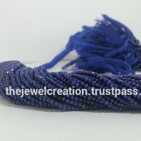 Natural Lapis Lazuli Stone Micro Faceted Beads Blue