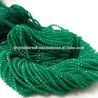 Natural 2mm Green Onyx Gemstone Micro Faceted Beads Wholesale Lot