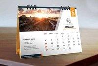 Jan Mockup Calendar