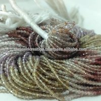 Natural 2mm Multi Color Shaded Quartz Micro Faceted Beads For Jewelry Making