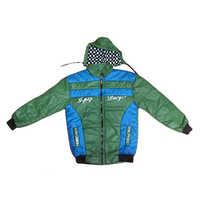 Green blue full sleeve winter jacket