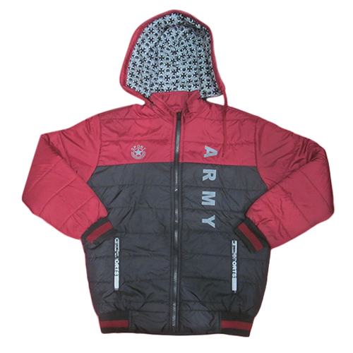 Boys Red Casual Full Sleeve winter Jacket