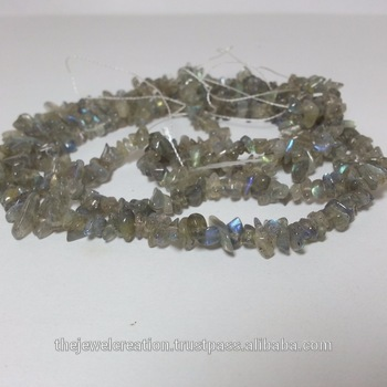 Natural Labradorite Rough Gemstone Uncut Chips Bead Strands