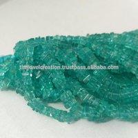 Natural Apatite Heishi Square Beads
