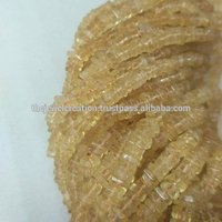 Natural Citrine Heishi Square Beads
