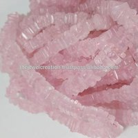 Natural Rose Quartz Heishi Square Beads