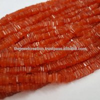 Natural Carnelian Heishi Square Beads
