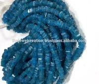 Natural Neon Apatite Heishi Square Beads