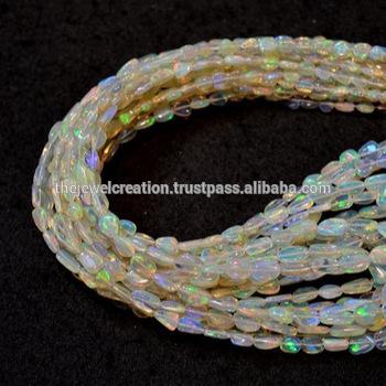 Natural AAA Ethiopian Opal Stone Tumble Nuggets Beads