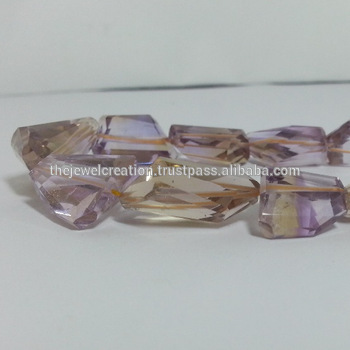 Natural AAA Ametrine Crystal Tumble Nuggets Gemstone Beads