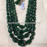 Natural AAA Emerald Gemstone Plain Smooth Tumble Gemstone Bead Wholesale