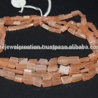Natural Peach Moonstone Tumble Nuggets Beads