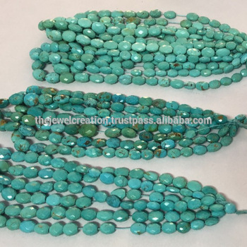 Natural Turquoise Faceted Tumble Nuggets Gemstone Beads