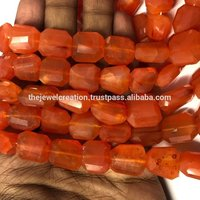 Natural Carnelian Faceted Tumble Nuggets Gemstone Beads