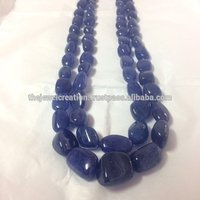 Natural AAA Tanzanite Stone Plain Smooth Tumble Shape Gemstone Beads