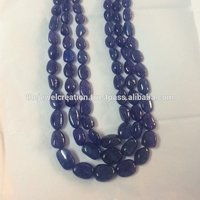 Natural Tanzanite Gemstone Plain Smooth Tumble Beads Wholesale Gemstone
