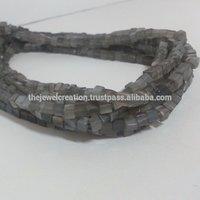 Natural Gray Moonstone Plain Cube Box Beads Gems 6mm